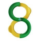 Children 88-shaped Railway Integration Sense Training Toys Attention Hand-eye Coordination Educational Toys (Yellow+Green)