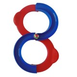 Children 88-shaped Railway Integration Sense Training Toys Attention Hand-eye Coordination Educational Toys (Red+Blue)
