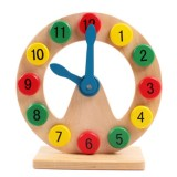 Children Building Blocks Wooden Number matching Geometry Clock Educational Toys