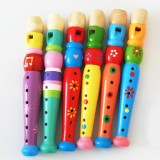 Kindergarten Children Early Education Teaching Aids Wooden Colorful Flute Musical Play Toys