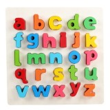 Rainbow Small Letter a-z Style Children Early Education Wooden Building Blocks Toys Parent-child Interaction Educational Toys