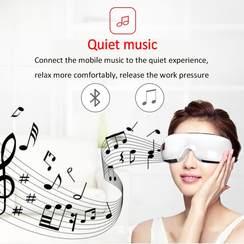 Smart Hot Compress Eye Pressure Massager, Support Bluetooth Music Playback (Black)