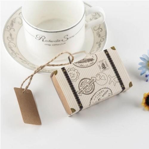 100 PCS Originality Wedding Mini Suitcase Sugar Box