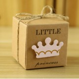 100 PCS European Style Wedding Princess Pattern Sugar Box