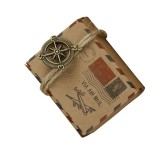 100 PCS European Wedding Retro Kraft Paper A Compass Mail Pattern Sugar Box