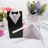 100 PCS Wedding European The Bride and Groom Sugar Box