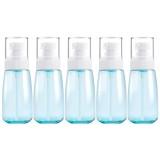 5 PCS Travel Plastic Bottles Leak Proof Portable Travel Accessories Small Bottles Containers, 60ml (Blue)