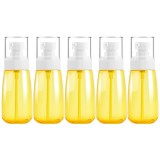 5 PCS Travel Plastic Bottles Leak Proof Portable Travel Accessories Small Bottles Containers, 60ml (Yellow)