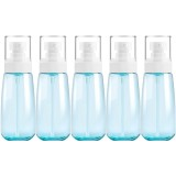 5 PCS Travel Plastic Bottles Leak Proof Portable Travel Accessories Small Bottles Containers, 100ml (Blue)
