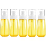 5 PCS Travel Plastic Bottles Leak Proof Portable Travel Accessories Small Bottles Containers, 100ml (Yellow)