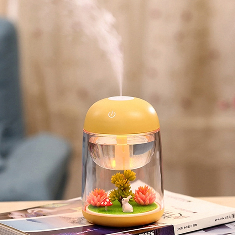 Imycoo WT602 2W Portable Mini Micro Landscape Design USB Charge Aromatherapy Air Humidifier with LED Colorful Light, Water Tank Capacity: 180ml, DC 5V (Yellow)