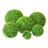 Artificial Aglaia Odorata Plant Ball Topiary Wedding Event Home Outdoor Decoration Hanging Ornament, Diameter: 10.7 inch