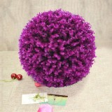 Artificial Purple Eucalyptus Plant Ball Topiary Wedding Event Home Outdoor Decoration Hanging Ornament, Diameter: 11.4 inch
