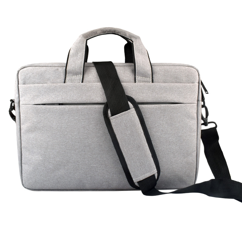 Breathable Wear-resistant Thin and Light Fashion Shoulder Handheld Zipper Laptop Bag with Shoulder Strap, For 13.3 inch and Below Macbook, Samsung, Lenovo, Sony, DELL Alienware, CHUWI, ASUS, HP (Grey)