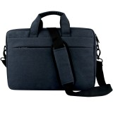 Breathable Wear-resistant Thin and Light Fashion Shoulder Handheld Zipper Laptop Bag with Shoulder Strap, For 15.6 inch and Below Macbook, Samsung, Lenovo, Sony, DELL Alienware, CHUWI, ASUS, HP (Navy Blue)
