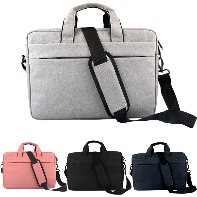 Breathable Wear-resistant Thin and Light Fashion Shoulder Handheld Zipper  Laptop Bag with Shoulder Strap, For 15 6 inch and Below Macbook, Samsung,
