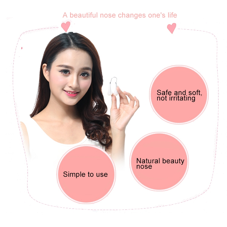 2 PCS Beauty Bridge of Nose Increased Device Nose Clip Braces Nasal Ting, Random Color