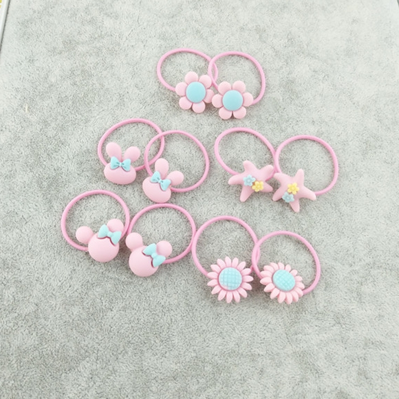 40pcs Cute Lovely Girls Kids Rubber Band Hair Tie Pink Alexnld Com