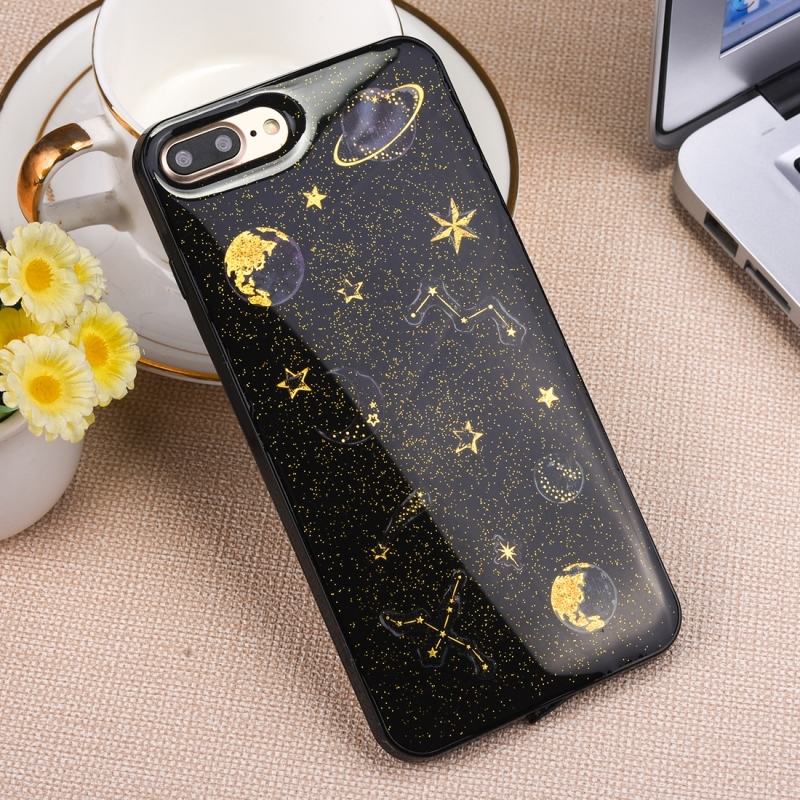 the best attitude 4f83f 58f6f For iPhone 8 Plus & 7 Plus Star Pattern TPU Protective Back Cover Case  (Black)