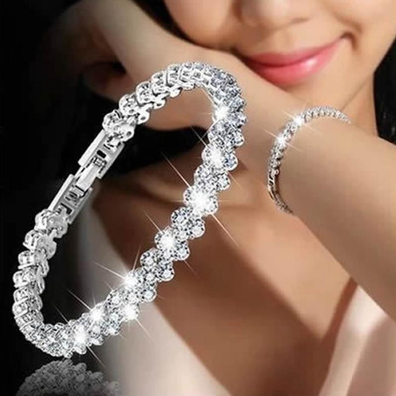 Glamorous Female Crystal Bracelet With Artificial diamond ...