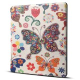 Dibase for Amazon Kindle Oasis 2017 7 inch Colors Butterfly Print Horizontal Flip PU Leather Protective Case