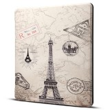 Dibase for Amazon Kindle Oasis 2017 7 inch Eiffel Tower Print Horizontal Flip PU Leather Protective Case