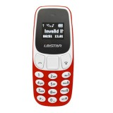 GTStar BM10 Mini Mobile Phone, Hands Free Bluetooth Dialer Headphone, MP3 Music, Dual SIM, Network: 2G (Red)