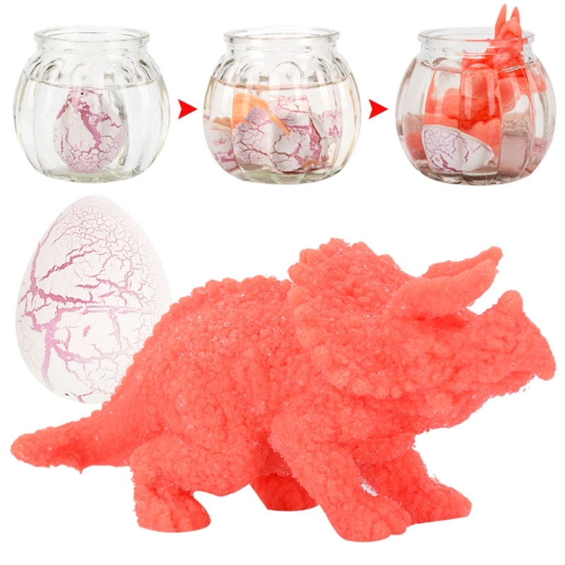40 PCS / Set Water Expansion Hatching Dinosaur Eggs Funny Expand Toys, Random Color and Style Delivery