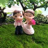 Victorian Style Wedding Marry Bride Groom Bouquet Couples Decoration Moss Micro Landscape Resin Ornaments