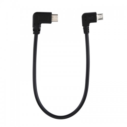 USB-C / Type-C Male Elbow to Micro USB Male Elbow Adapter Cable, Total Length: about 25cm, For Samsung, Huawei, Xiaomi, HTC, Meizu, Sony and other Smartphones