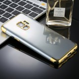 For Galaxy S9 Three Sections Electroplating Side TPU Protective Back Case (Gold)