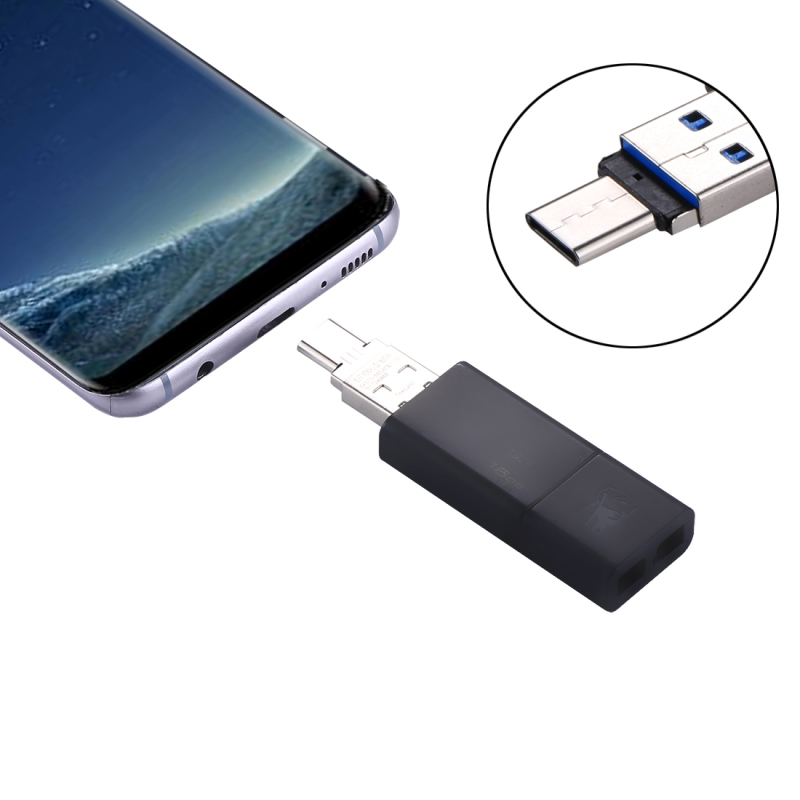 Mini Aluminum Alloy USB-C / Type-C Male to USB Female OTG Adapter Connector, For USB Flash Drive Disk, Galaxy S8 & S8 + / LG G6 / Huawei P10 & P10 Plus / Xiaomi Mi6 & Max 2 and other Smartphones