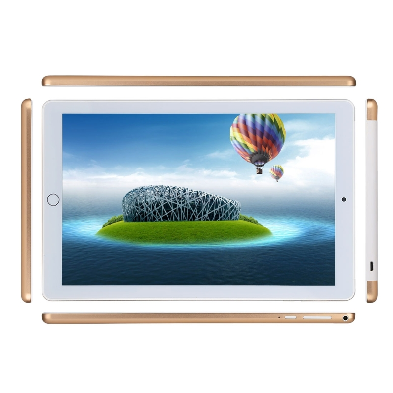 3G Phone Call Tablet PC, 10.1 inch, 1GB+16GB, Android 4.4 MTK6582 Quad Core 1.3GHz, Dual SIM, Support GPS, OTG, WiFi, Bluetooth (Gold)