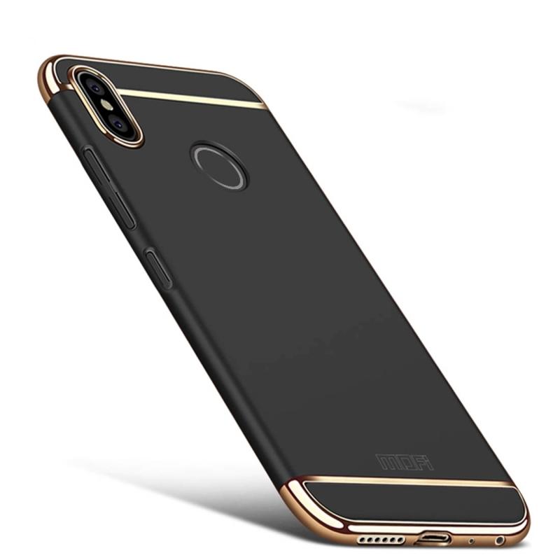 info for 82fd1 87694 MOFI for Xiaomi Redmi Note 5 Pro Three Stage Splicing Full-body Rugged PC  Protective Back Cover Case (Black)