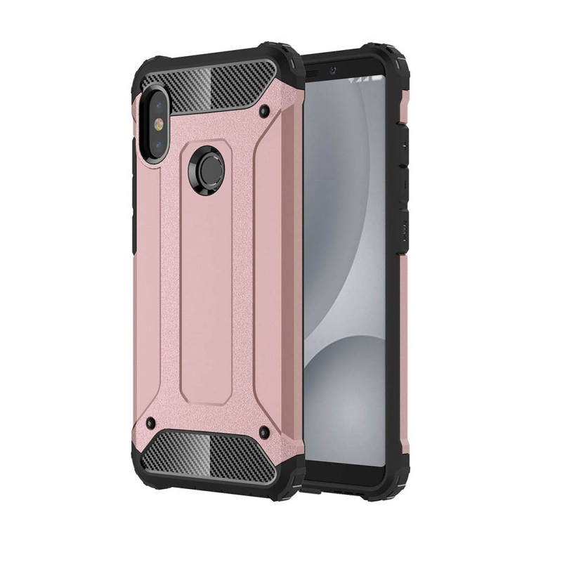 official photos fa402 06aad For Xiaomi Redmi Note 5 Pro Full-body Rugged TPU + PC Combination Back  Cover Case (Rose Gold)