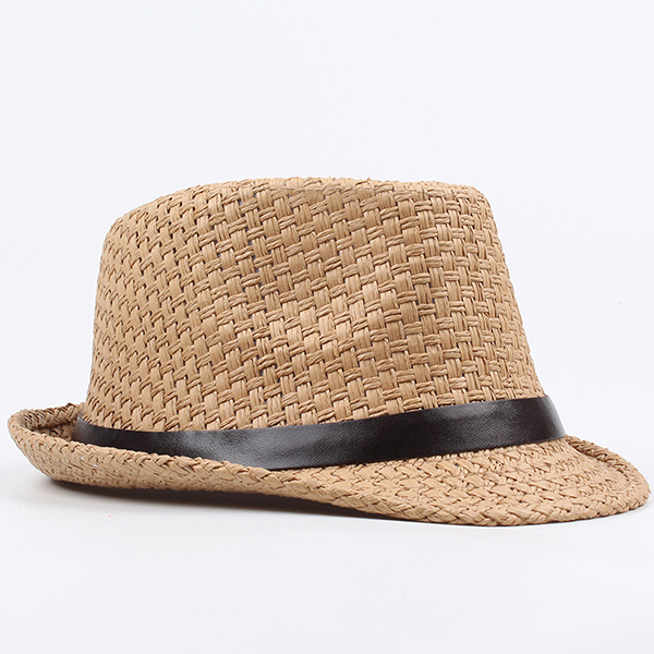 529c6b14bd491 Men Women Classic Wide Brim Straw Cowboy Hat Outdoor Visor Fedora ...