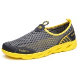 Men Comfy Breathable Mesh Sneakers Slip On Sports Shoes