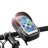 ROCKBROS 6.0 Inch Rainproof TPU Touch Screen Bicycle Phone Bag Handlebar Bag MTB Frame Pouch Case