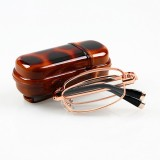Folding Reading Glasses Men Women Metal Frame Portable Presbyopic Glasses With Glasses Case