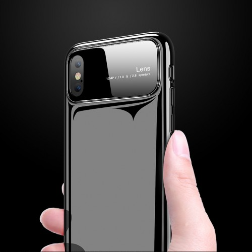 Bakeey Tempered Glass Mirror Hard PC Glossy Protective Case for iPhone X