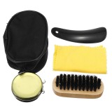 4 In 1 Shoe Shine Care Kit Set Neutral Polish Brush Leather Shoes Boots + Case Shoes Accessories