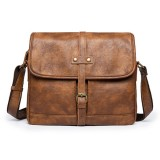 Men Minimalist Retro Casual Messenger Shoulder Crossbody Bag