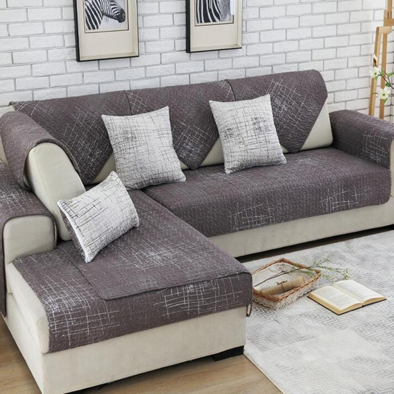 Modern Magical Sofa-cover Corner Fabric Double Towel Sofa Cover Set ...