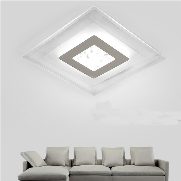 28w modern simple square acrylic led ceiling lights living room 28w modern simple square acrylic led ceiling lights living room bedroom home lamp ac220v aloadofball Image collections