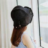 Women Breathable Knitted Sunscreen Fisherman Hat Casual Travel Shoppping Visor Bucket Hat