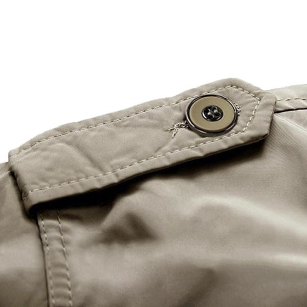 Fashion Men's British Style Mid-long Windbreaker Autumn Winter Leisure Thin Trench Coat
