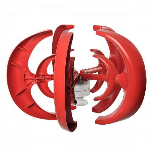 12V/24V 400W Wind Turbine Wind Generator Lantern Vertical Axis Permanent Magnet Alternator