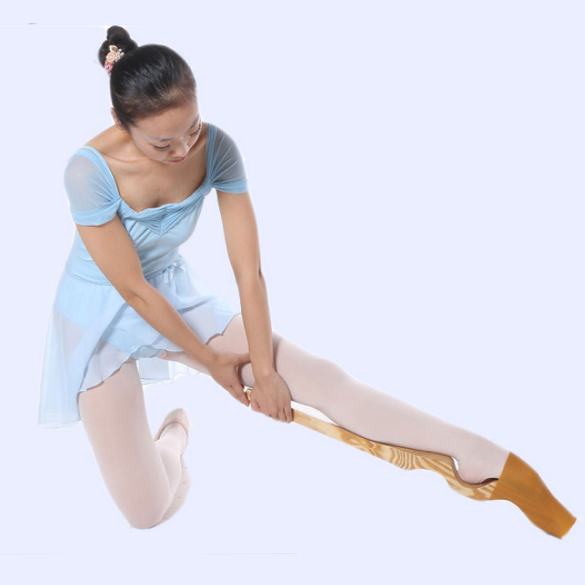 Wood Ballet Foot Stretcher Arch Enhancer Dance Gymnastics Elastic Band Exercise Tools