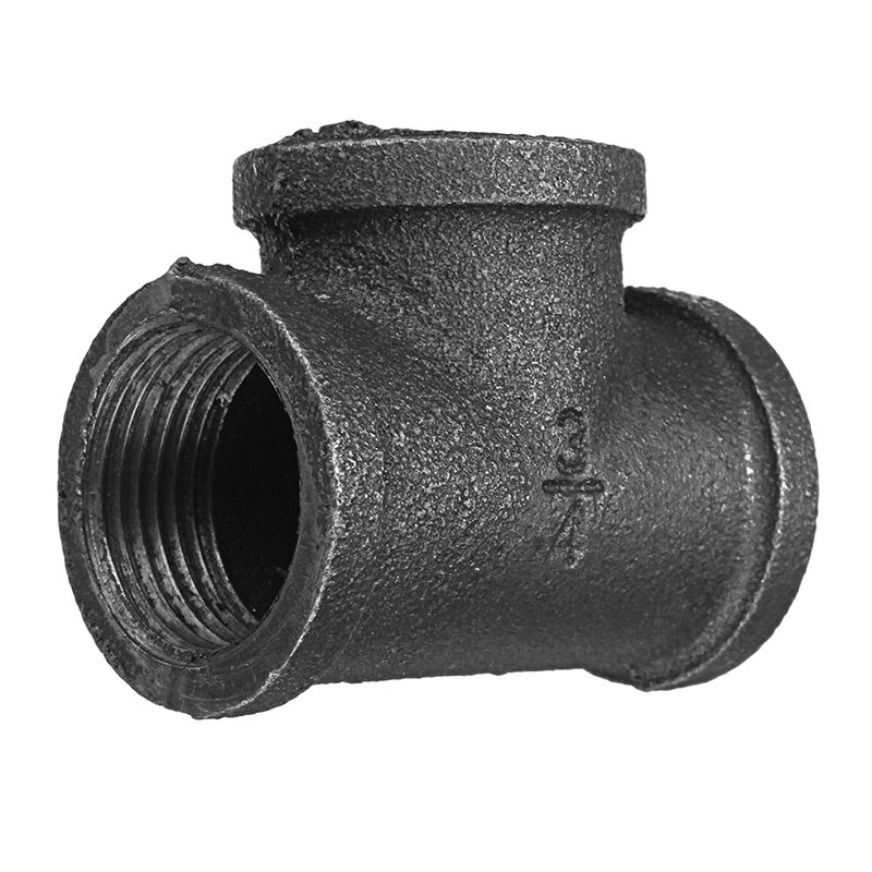 ″ equal tee way pipe malleable iron black