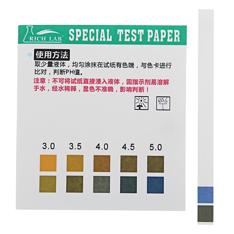 Precision Ph Test Strips Short Range 05 50 Indicator Paper Tester
